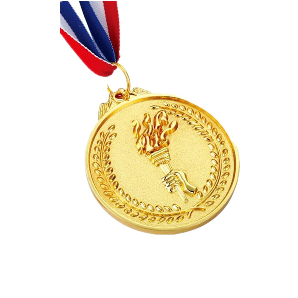 Zinc alloy bottle opener medal die casting gold/silver/copper plating sports medal with ribbon