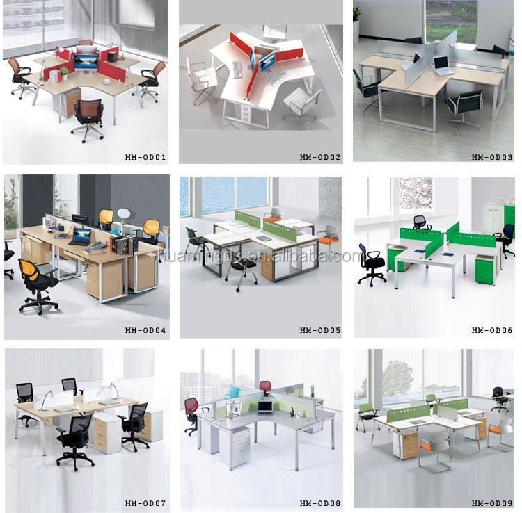 Person Modern Design Wooden Office Workstation Layout - Buy Office ...