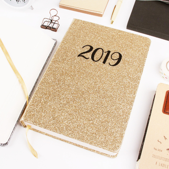 2019 Custom Phantasie Hardcover Glittery PU Journal A5 notebook