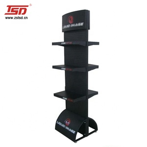 TSD-M497 Auto spare parts/ car accessories heavy duty black metal display racks and stands/ display shelves for retail stores