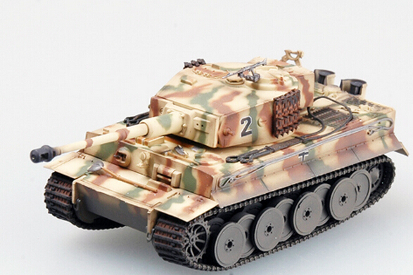 easy model 1/72 scale miniature military 36212 scale tank vehicle GERMAN  TIGER 1 MIDDLE TYPE assembled model scale military toys