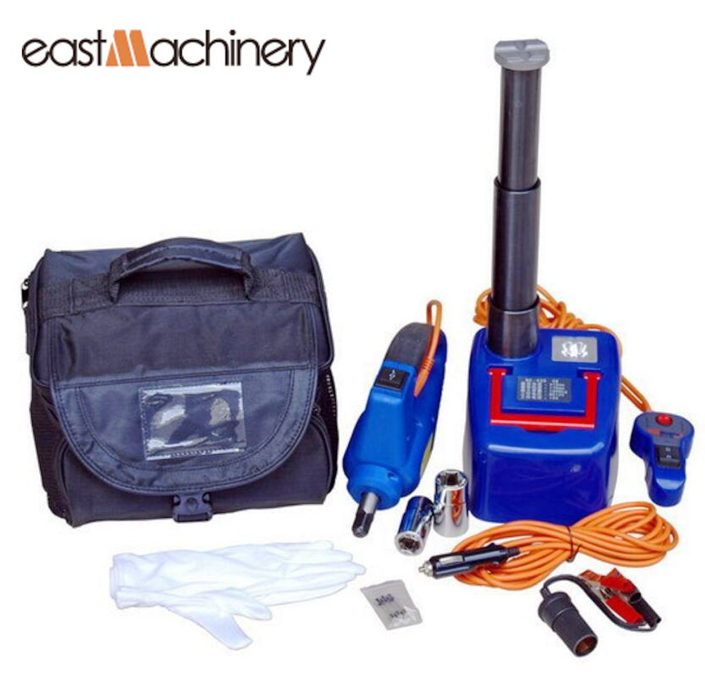 Max load 3000KG Wireless remote control Auto hydraulic jack car lift with electric wrench SUV tire repair tools kit