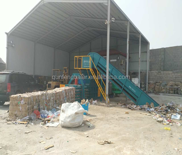 Automatic hydraulic waste paper and carton baling machine for sale
