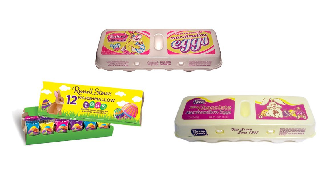 Russel Stover , Zachary and Branbury Assorted Marshmallow Egg Crate, 12 Easter Eggs (Pack of 3 Crates)