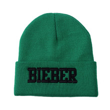 Fashion style cheap winter acrylic cotton embroidered beanie