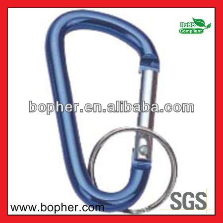 2012 new aluminum carabiner key ring
