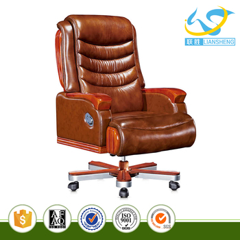 China Computer Chair Functional Magemanager Office With Wooden Base