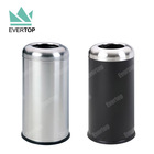 Bin Waste Bin Full Collection Stainless Steel Trash Litter Bin Dustbin Public Metal Dustbin Commercial Trash Can Waste Container Bin Trashcan