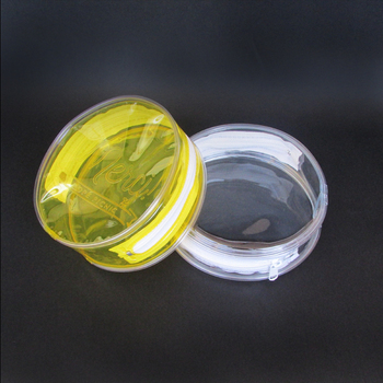 Hot Sale Plastic Packaging Zip Bag Round Shape Clear PVC Zip Bag Stand up Bag with Zipper