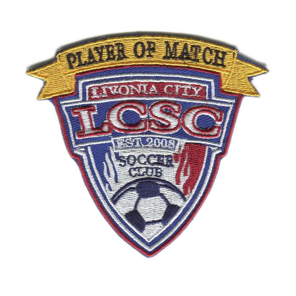 Bordado fútbol deportes logotipo del equipo de fútbol deporte Pacthes placa bordado  insignias del equipo 504c411e38171