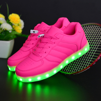 New LED USB Charge adults sports led shoes women for party