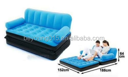 Portable Multi Max Inflatable Air Couch Double Bed Chair Sofa Camping