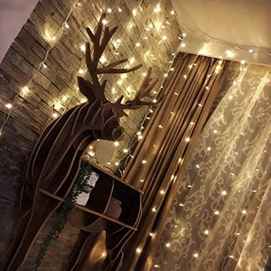 Outdoor Stage Wedding Window Decoration Christmas Halloween Party Fairy String LED Light Curtain