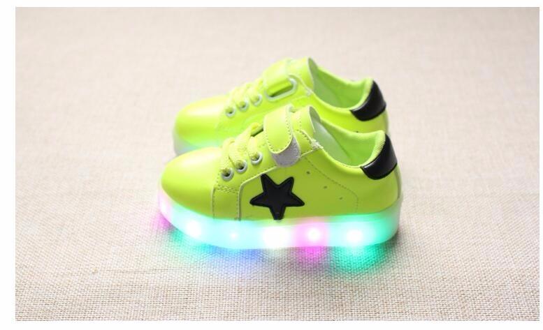 Spring Autumn Winter Children Baby Boys Sneakers Led Light Sport Shoes For Girls  Kids b2e2210d442b