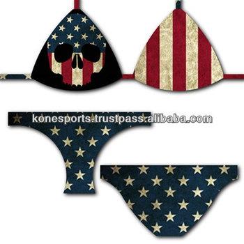 ea5fdf9ea7760 American Skull Bikini Swimsuit - Buy Micro Bikini Swimsuit Models ...