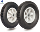 10 inch solid rubber wheel semi pneumatic tire