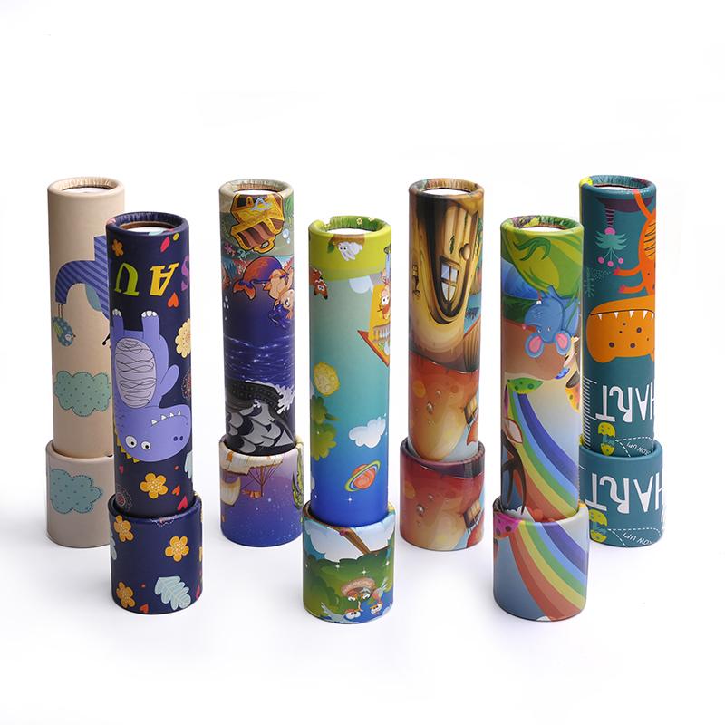 Educational Toys 2018 Custom Promotional Items China Wholesale Kaleidoscope Magic Telescope Toy Paper Mini Kaleidoscope Printing