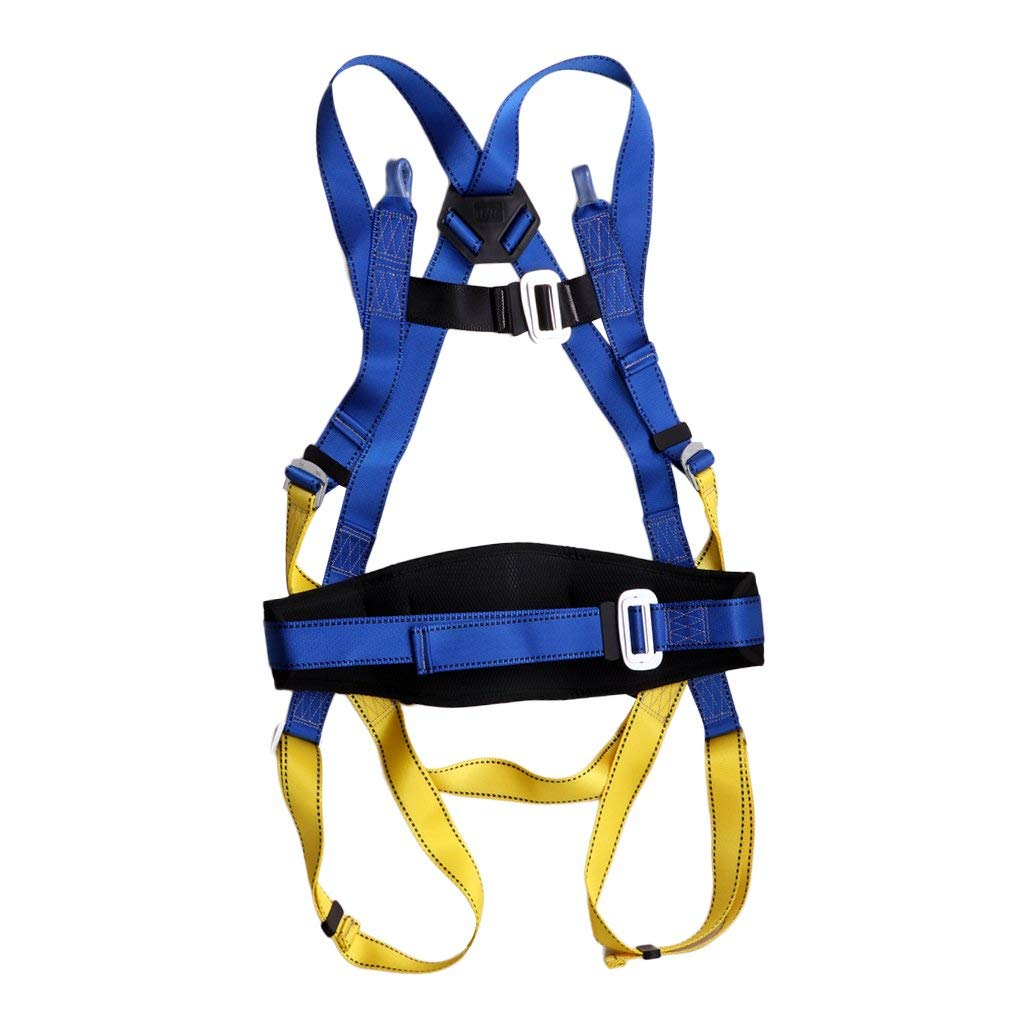 Baosity Climbing Harness Multi-purpose Adjustable Body Mountaineering Rock Safety System Belt for Arborist Aerial Working