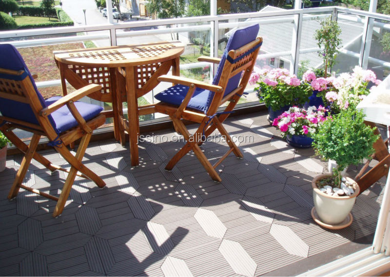 Germany Standard Outdoor Interlocking Plastic Floor Tileswooden