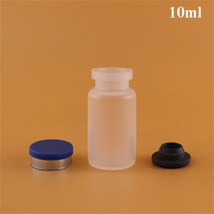 Sterile clear white rubber stopper 10ml empty vaccine injection vial bottle