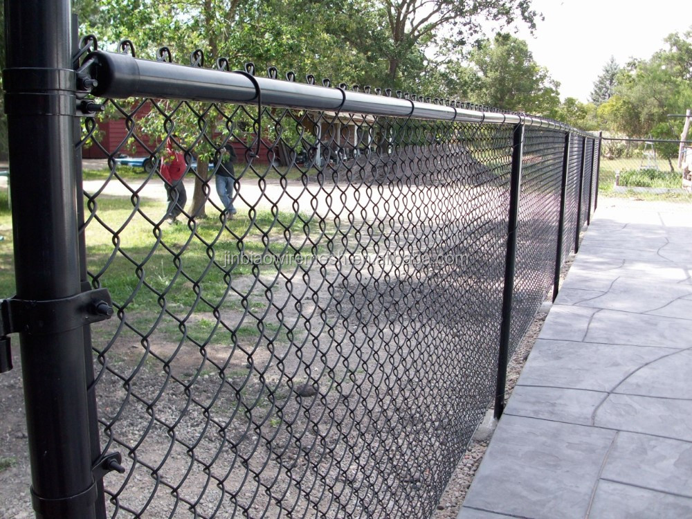 9 gauge 5 foot chain link fence vinyl coated tension wire chain link fence