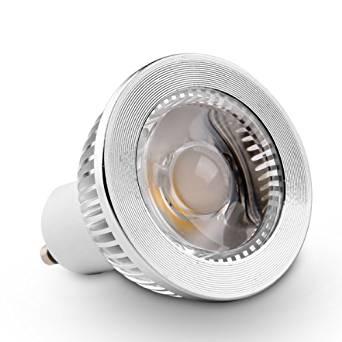 "Golden Sun ETL-Listed Dimmable 5 watt GU10 LED Bulb, 50 watt Equivalent, GU10 COB LED Spotlight Narrow Flood Bulb, 38 Degree, 450 lm, 90lm/W, AC 120V, Recessed Lighting, Track Lighting, 2.6"" Height, 2700K Warm white"