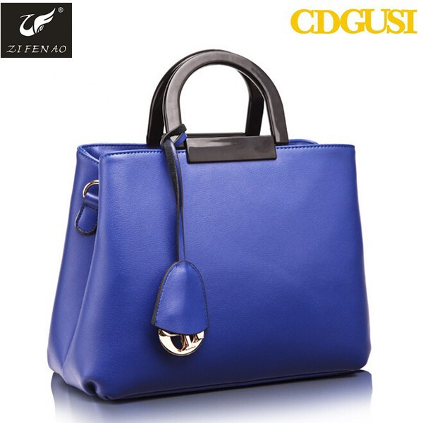 Women fashion candy colors simple leather handbag solid <strong>totes</strong>