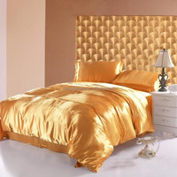 luxury Chinese 22momme mulberry silk sheet sets bedding / bedsheets
