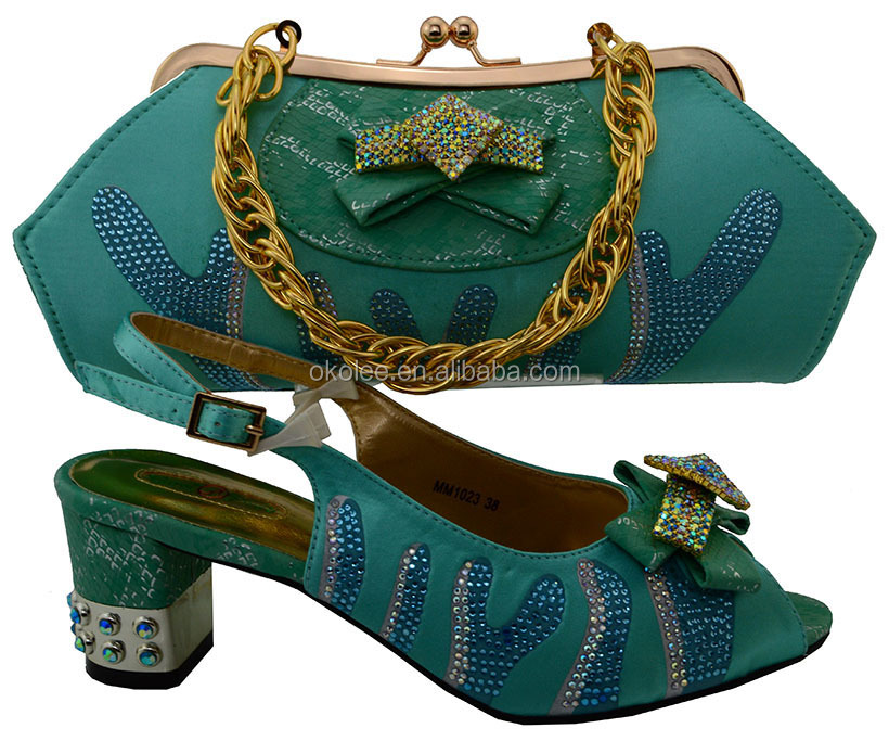 KB8436-5Italian shoes and bags to match women/african shoes and bags to match