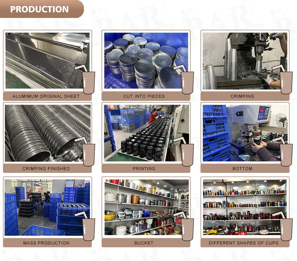 Aluminum tumblers production