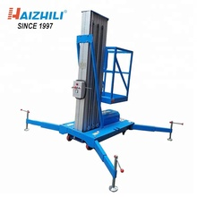 Single Mast climbing aluminum alloy lift platform/ mobile portable lifter make in china