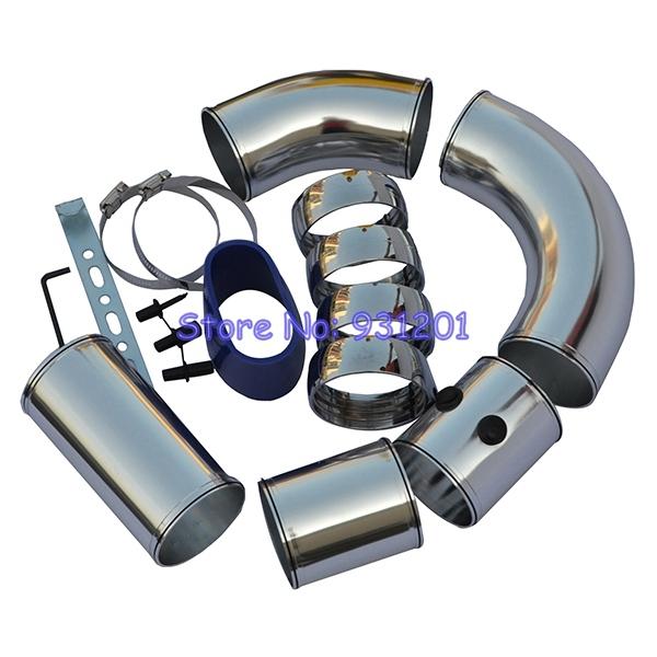 Buy Universal Car Air Intake Tubes Aluminum Pipe 3? Diameter