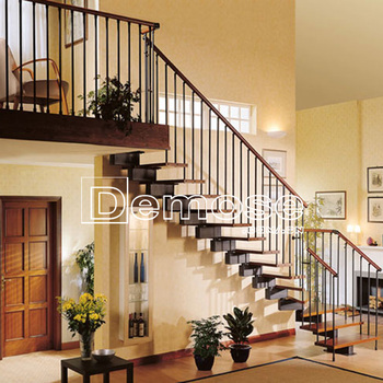 Ornamental Staircase Interior Design/iron Staircase Railing/wooden Steps -  Buy Cast Iron Staircase,Staircase Interior Design,Iron Staircase Railing