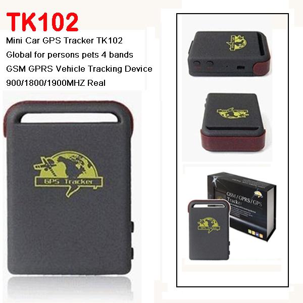5 частей продать хорошая обновление GPS трекеры tk-102, Mini глобальное реальное время GSM / GPRS / GPS устройство слежения