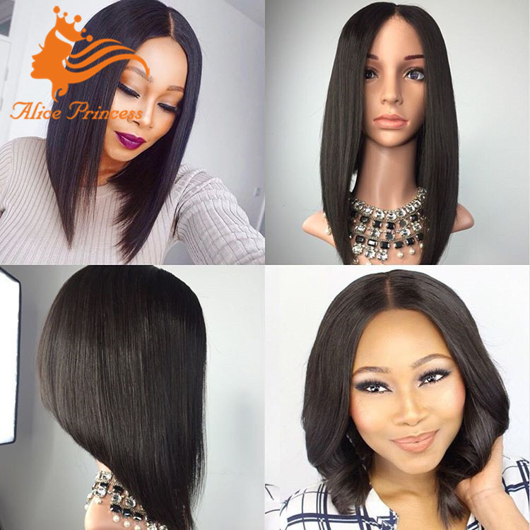 d38eb7171 grade 8a lace wig silky straight full lace wig 150 density bob style human  hair lady gaga wigs on sale