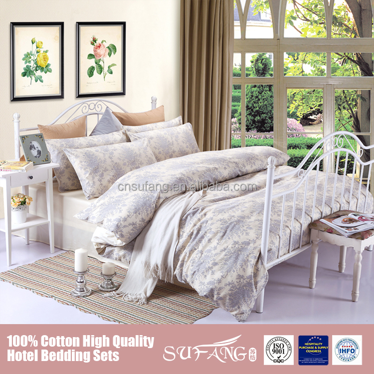 2017 high quality 100% cotton printed luxury 5pcs bedding comforter set