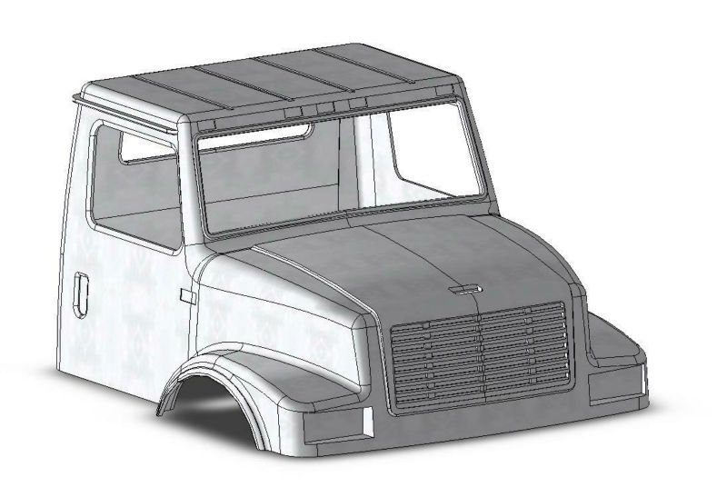 Heavy Duty Commercial Truck Cab Body