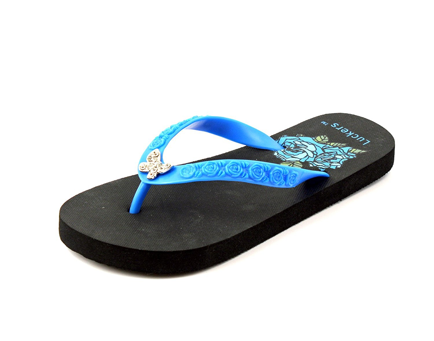 6219590fa231 Get Quotations · Luckers Girls Jeweled Flip-Flops Sandals