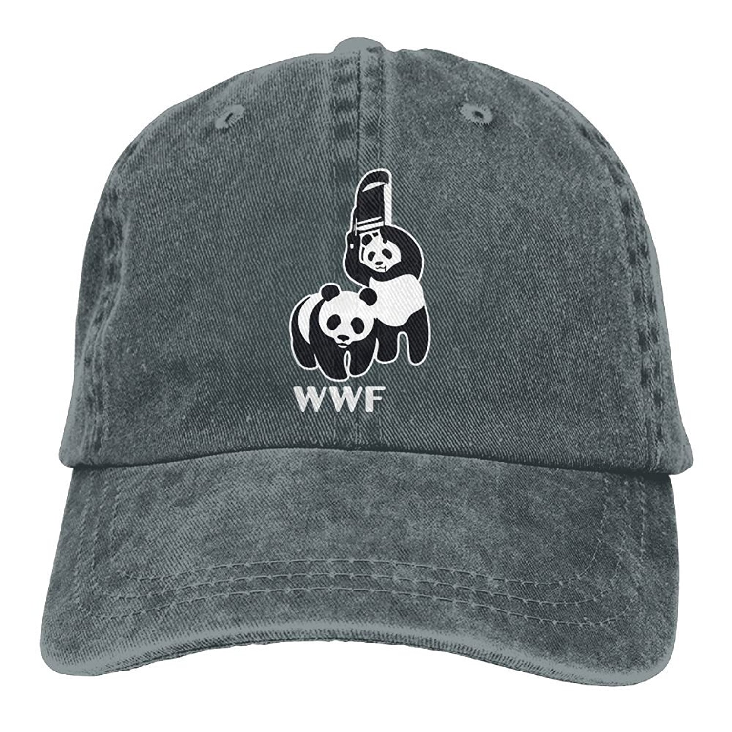 a865541185b Get Quotations · WWF Funny Panda Bear Wrestling Adult New Style COWBOY HAT