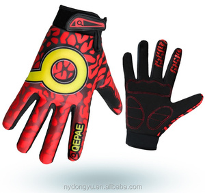 red cycling climbing active sports gloves unisex kx cylcing full finger gloves