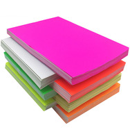 "Fluorescent Neon Card Paper with 5 Color 100pack 3.5"" by 5.5"""