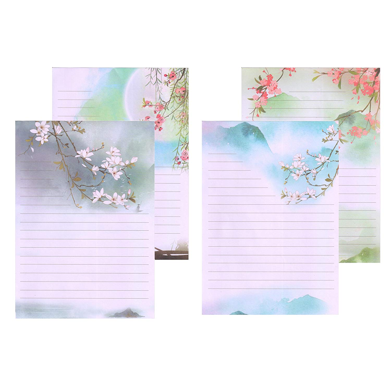 IMagicoo 64 Vintage Retro Cute Design Writing Stationery Paper Pad Letter Set, 4 Different Style (Style-3)