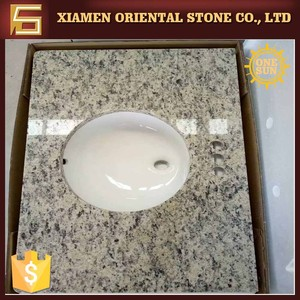 Precut fossil stone laminate bathroom sink countertops