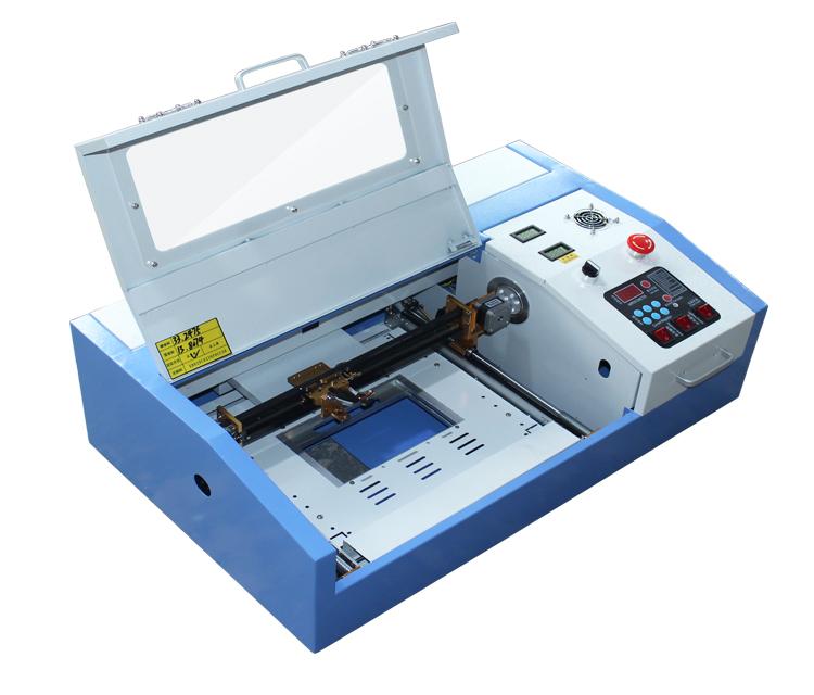 Multifunctionele mini stempel graveur co2 laser carving snijmachine cnc Laser graveur 40 W