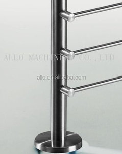 pole fence stainless steel glass partition post