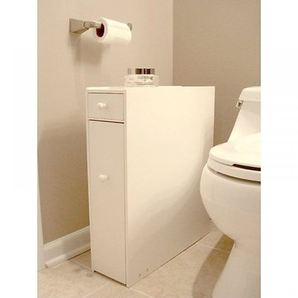 Get Quotations Floor White Bathroom Cabinet Storage Slide Out With Doors Furniture