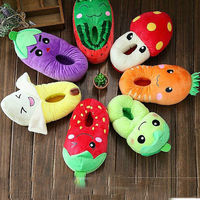 women keeping warm cotton slippers in winter,cute vegetable shape slipper for girl,novelty slipper in fruit shape