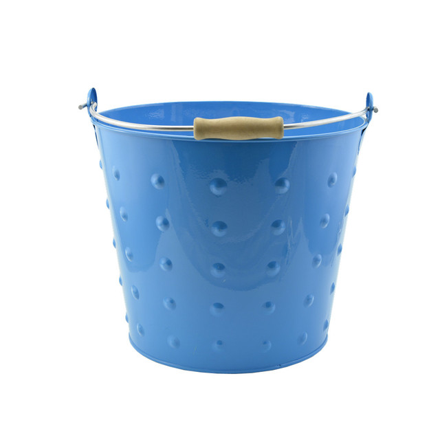 Flowers And Garden Metal Bucket Decorative Your Home And Garden
