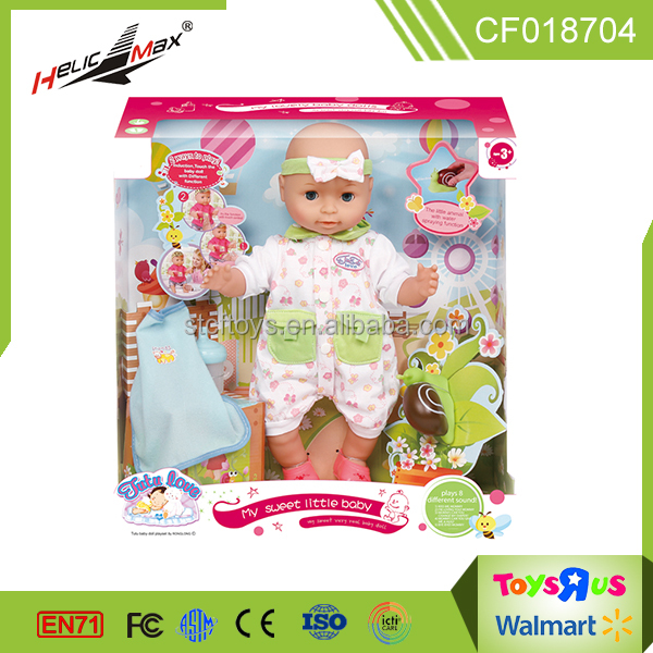 hot sale 2017 toys for kids 18 inch intelligence lovely baby doll with accessories