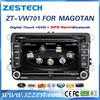 ZESTECH Factory OEM CE/FCC/ROHS certification and 7 inch 2 din car dvd for Passat B6 2006 2007 2008 2009 2010